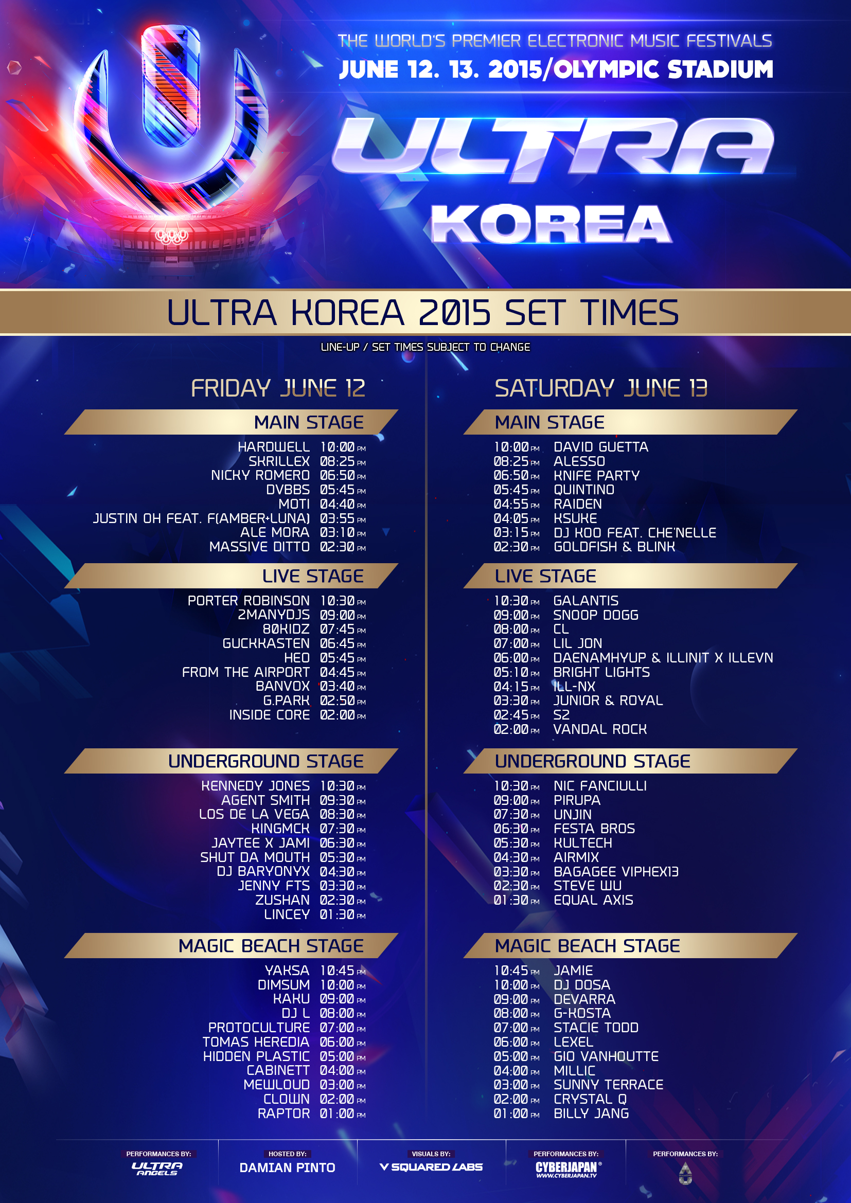 Ultra-Korea-time-table