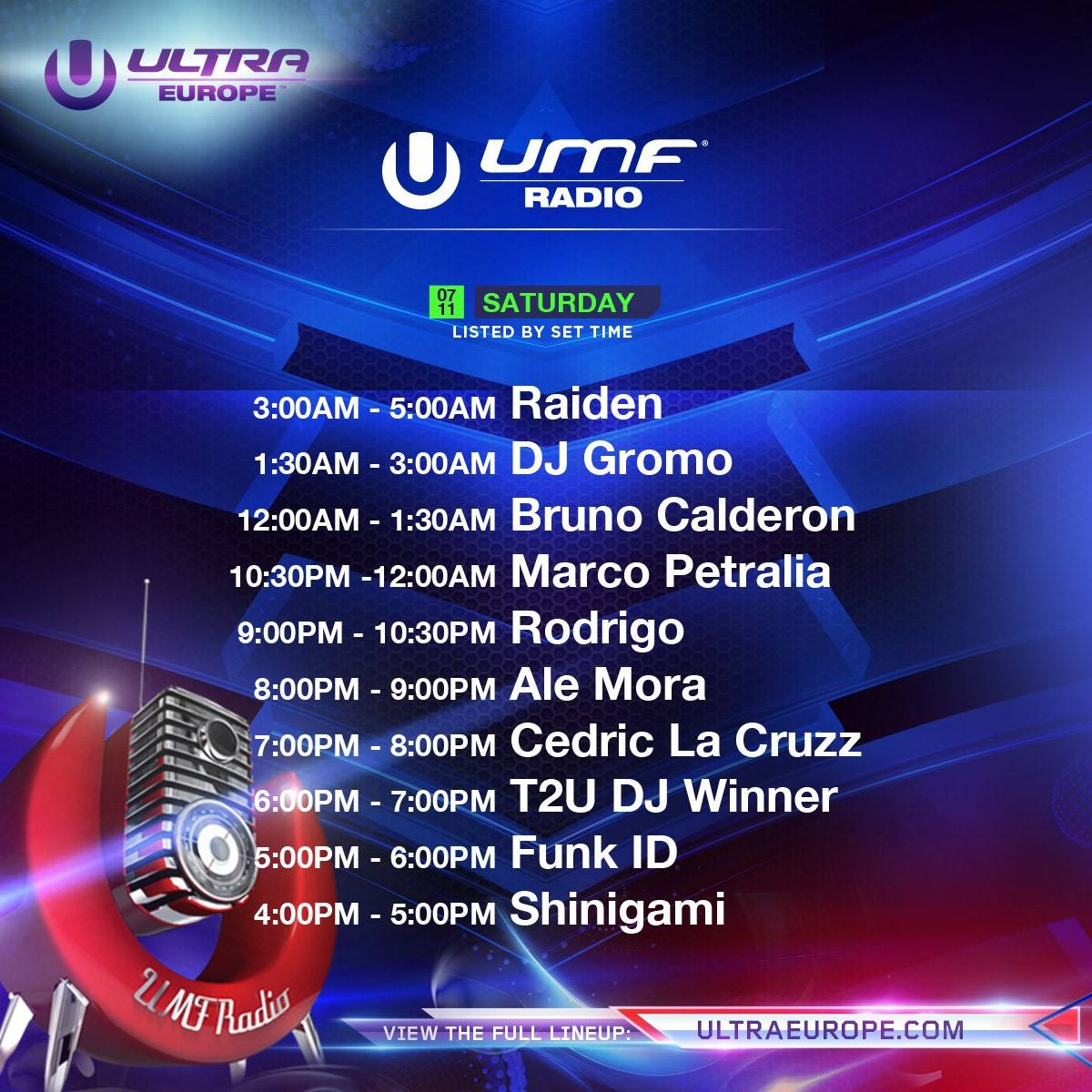 Ultra Europe-radio-saturday
