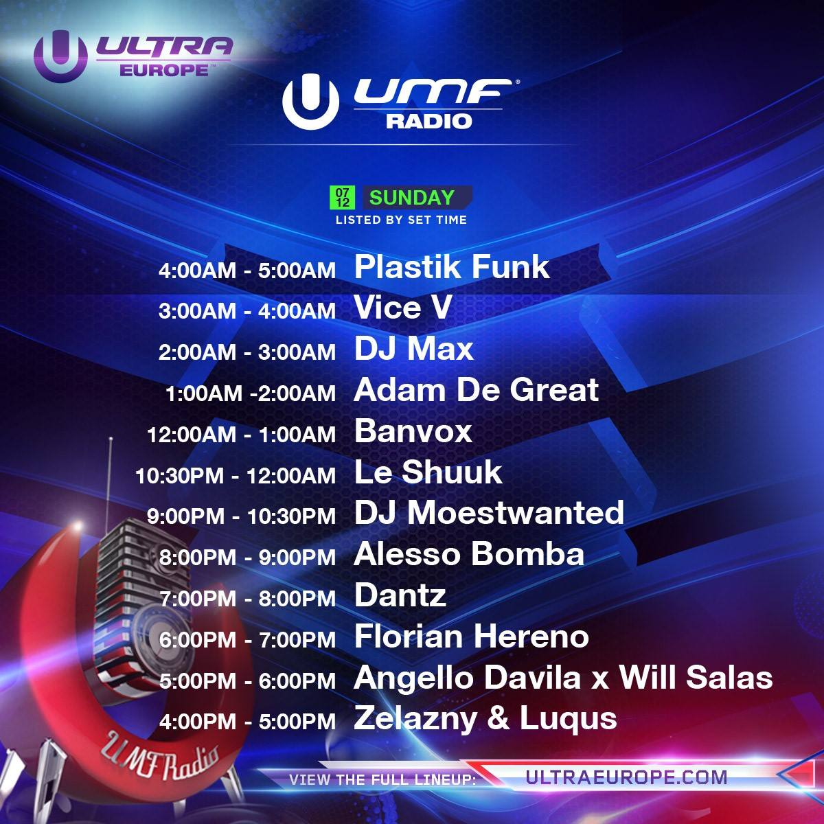 Ultra Europe-radio-sunday