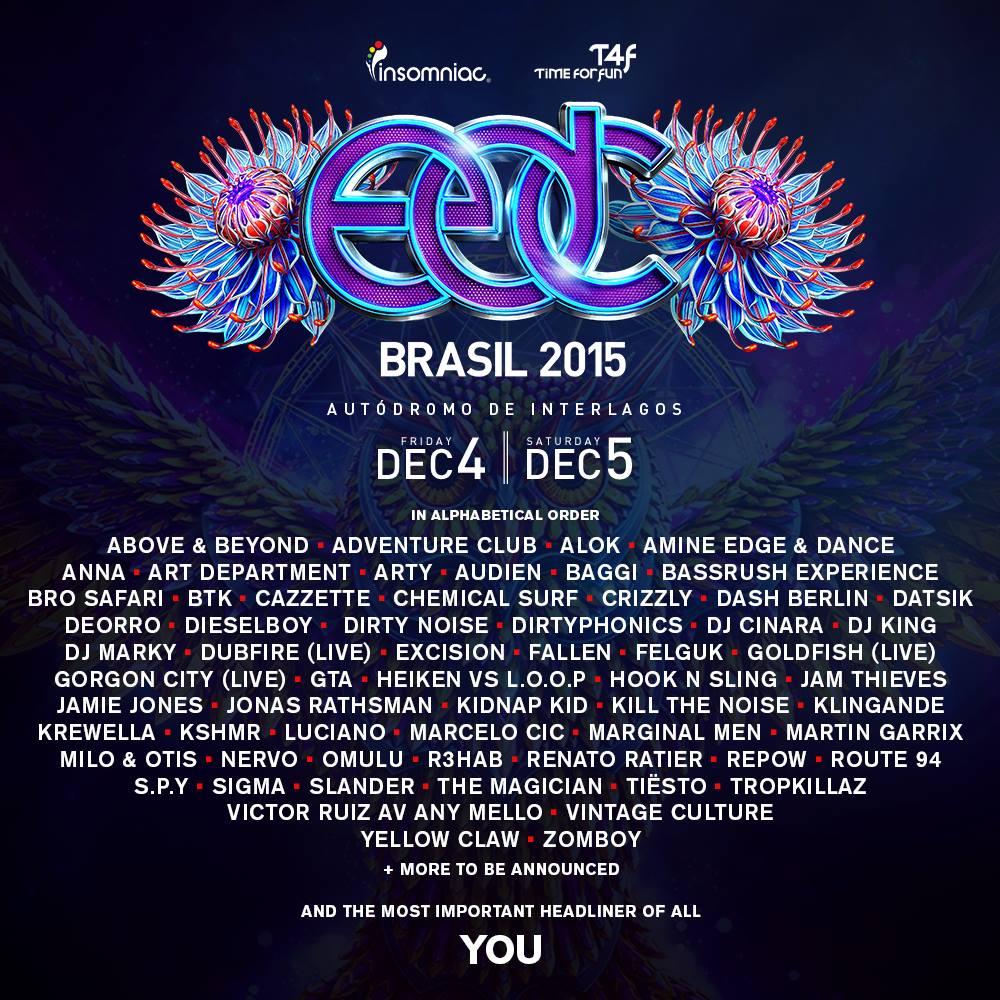 EDC Brasil 2015 line-up