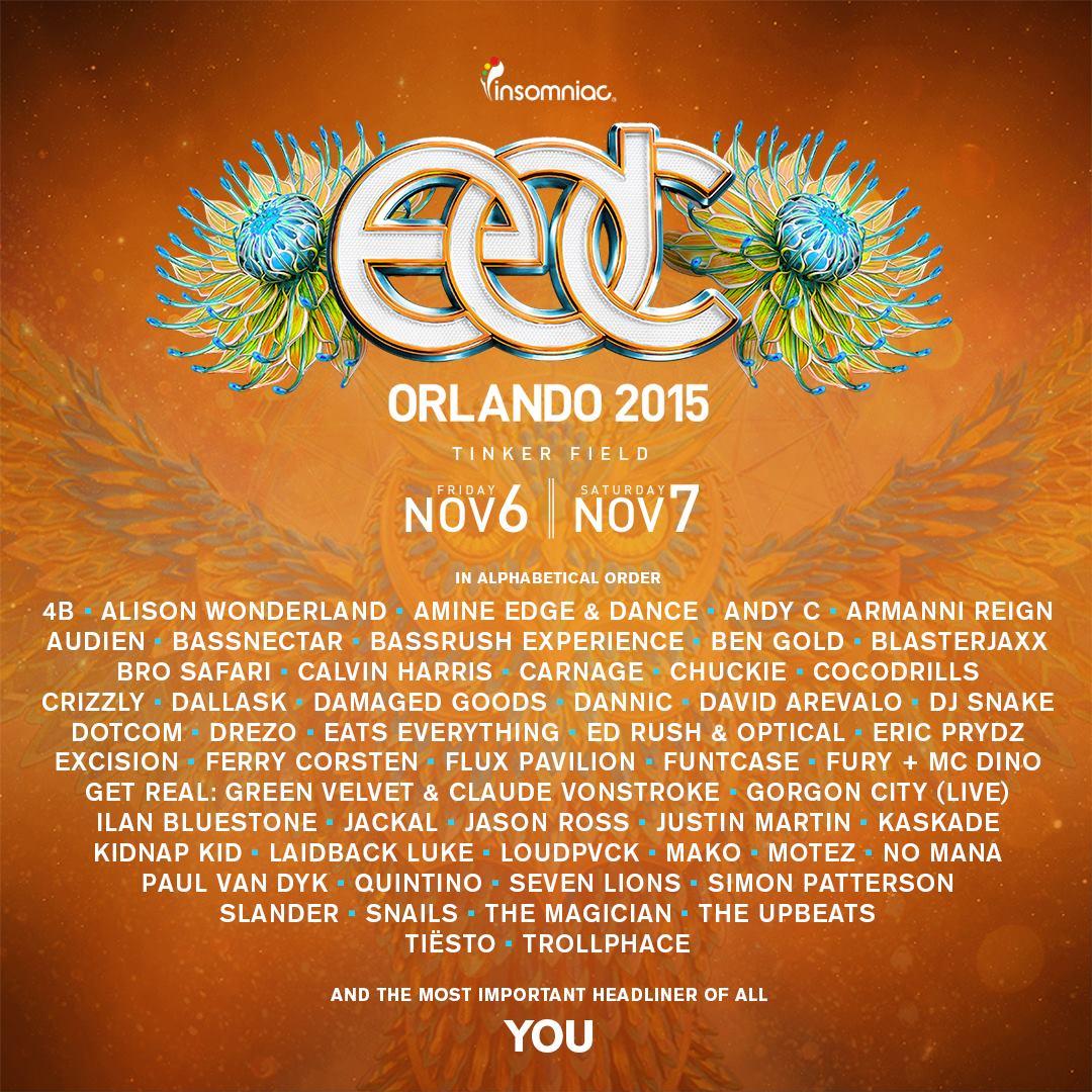 EDC Orland 2015 lineup