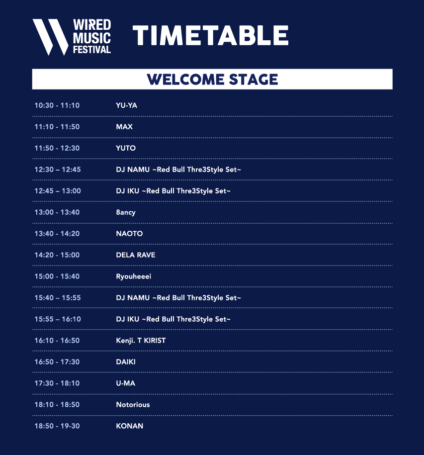 WIRED MUSIC FESTIVAL WELCOME STAGE