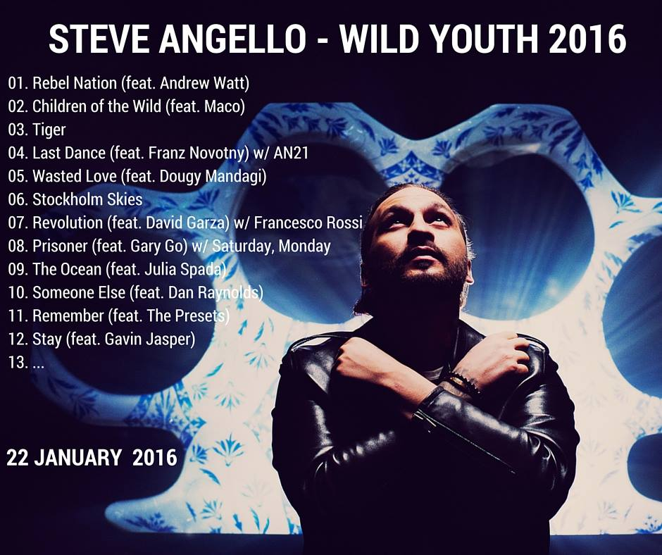 Steve Angello WildYouth Tracklist