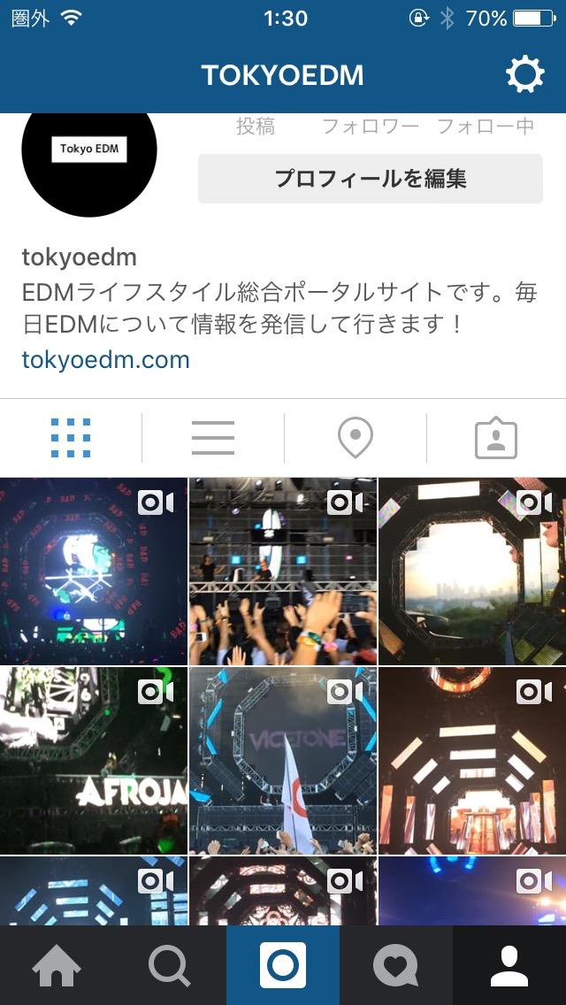 TokyoEDM Instagram
