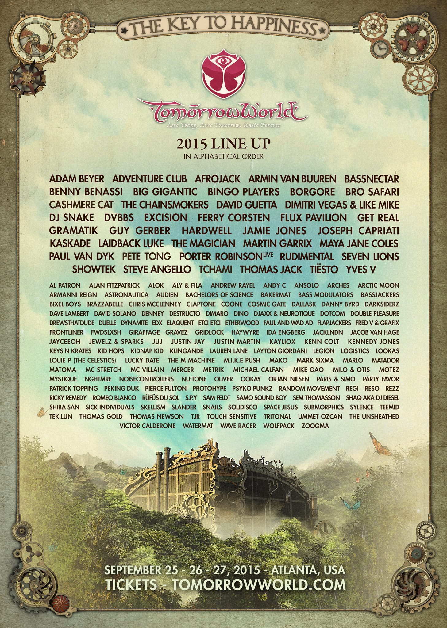 TomorrowWorld 2015 Lineup