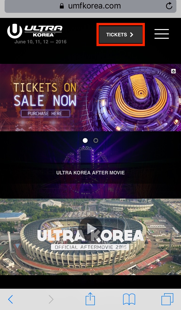 ULTRA KOREA 2016 TICKET HOU TO