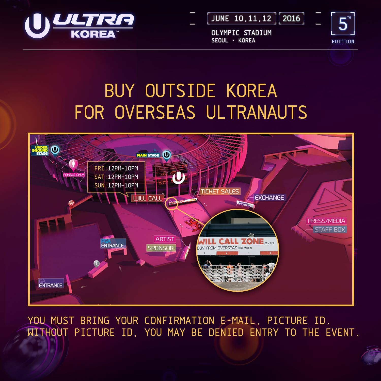 ULTRA KOREA 2016Will Call