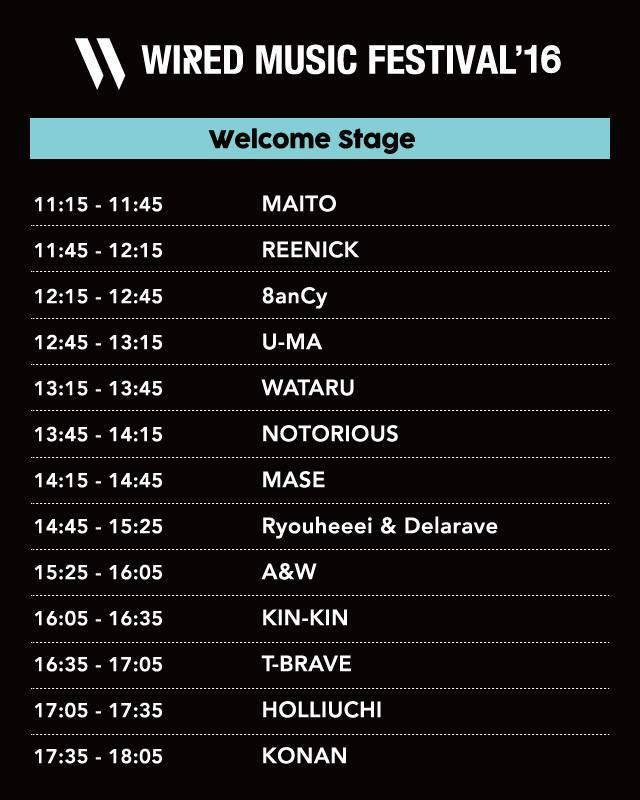 WIRED MUSIC FESTIVAL 2016 WELCOME STAGE