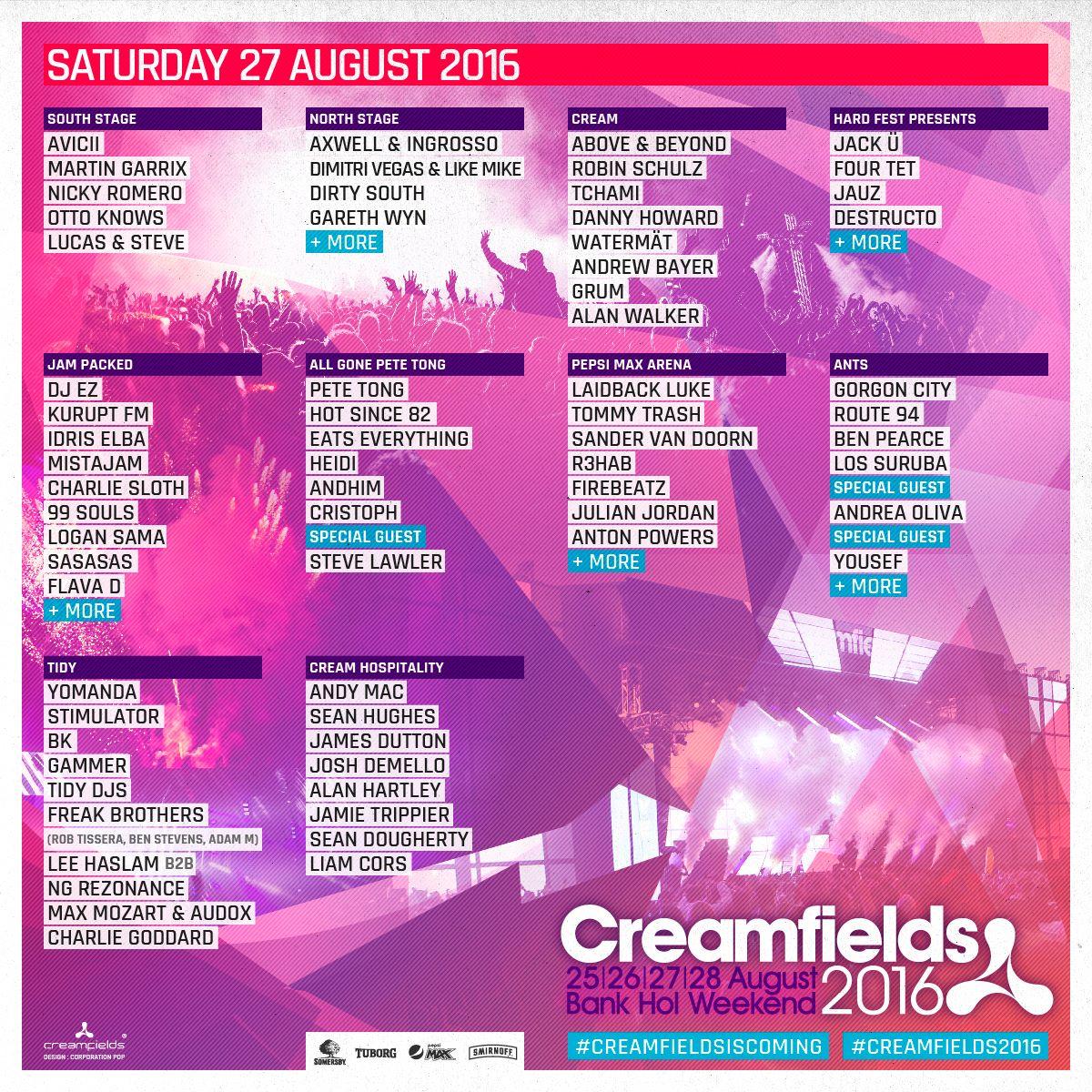 Creamfields 2016 27 line up