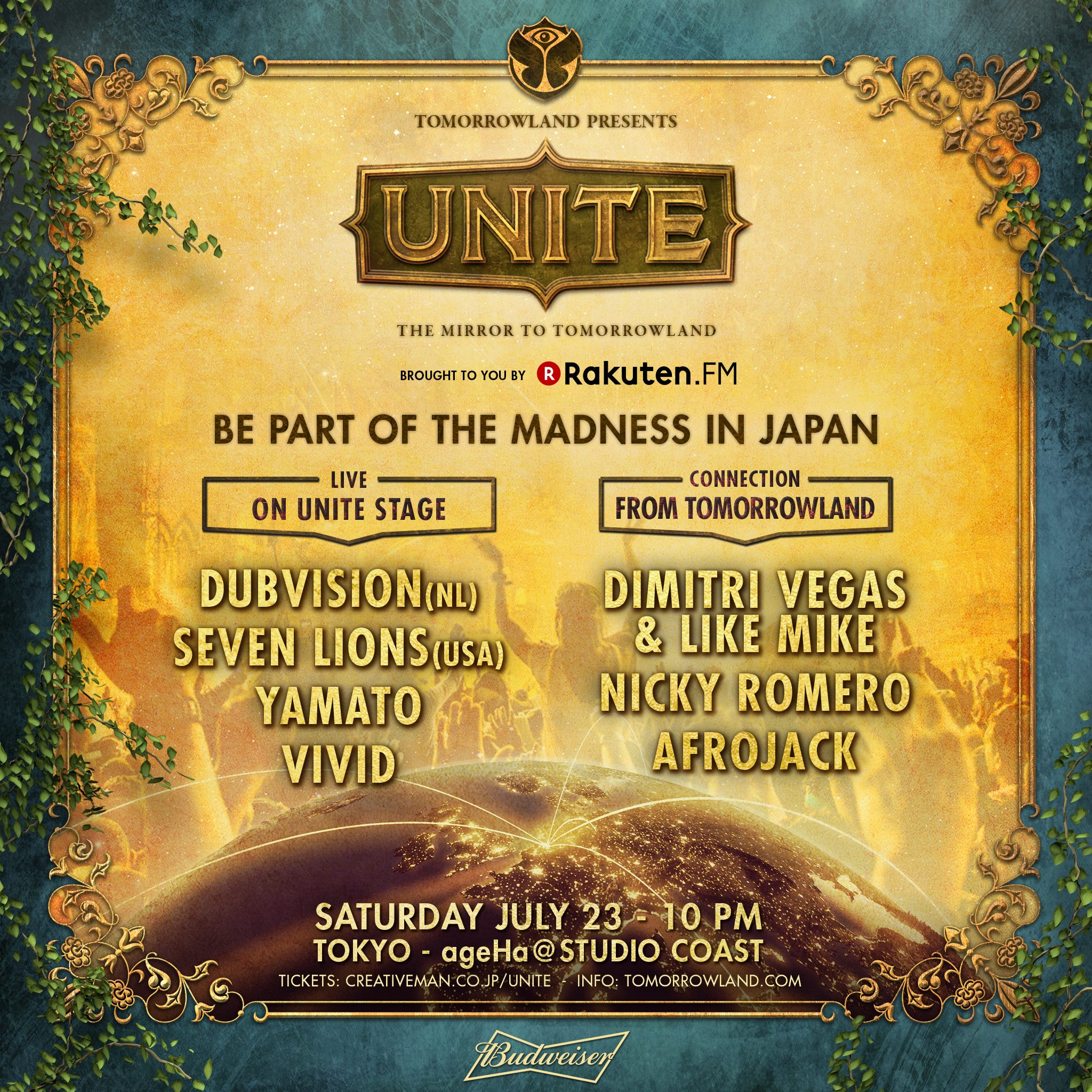 Tomorrowland Presents UNITE -Japan