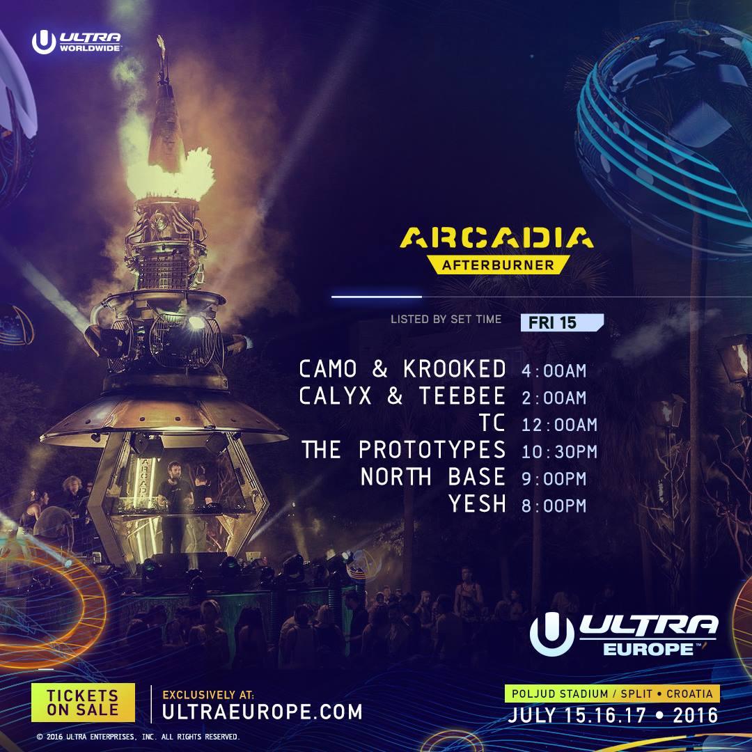 Ultra Europe 2016 Arcadia fri