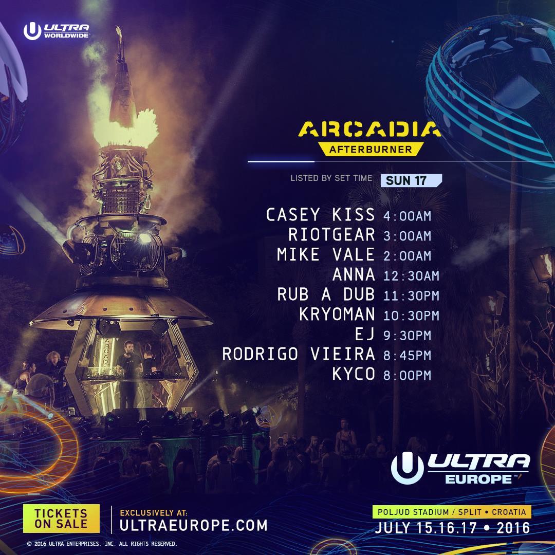 Ultra Europe 2016 Arcadia sun