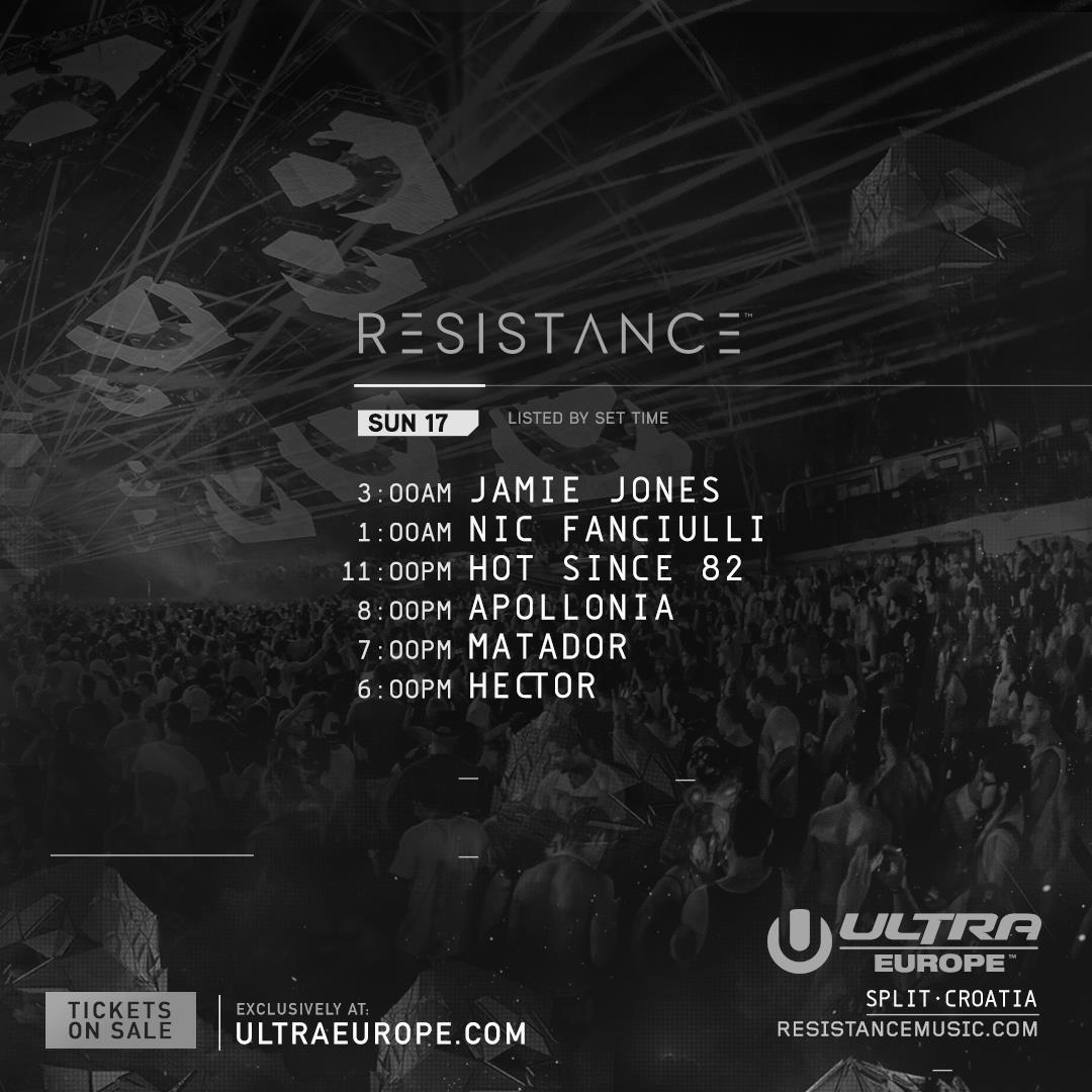 Ultra Europe 2016 Resistance sun