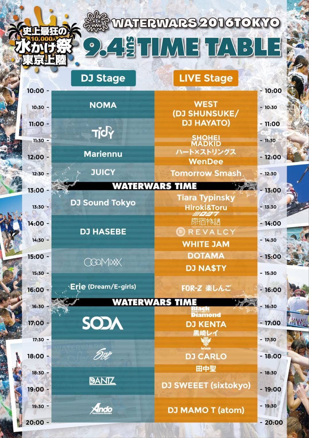 WATERWARS 2016 timetable