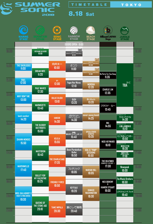 2019 東京 サマソニ
